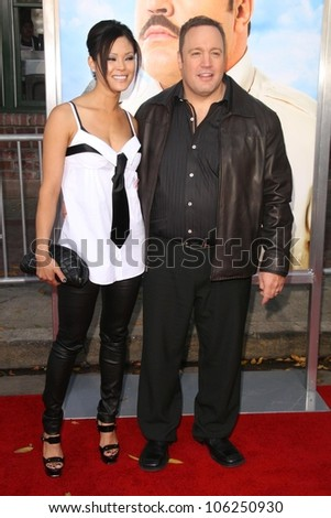 Steffiana De La Cruz and Kevin James  at the Los Angeles Premiere of 'Paul Blart Mall Cop'. Mann Village Theatre, Westwood, CA. 01-10-09