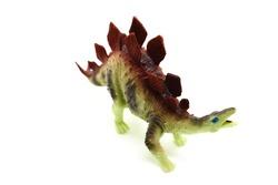 Stegosaurus white background color. Toy