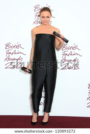 Stella McCartney in the press room for The British Fashion Awards 2012 held at The Savoy, London. 27/11/2012 Picture by: Henry Harris