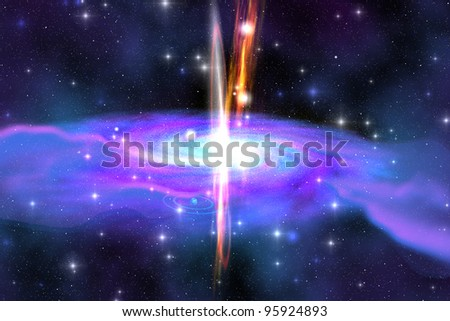 Stellar Black Hole - A Stellar Black Hole is caused by the collapse of a massive star and is also called a Supernova explosion or a Gamma Ray Burst.