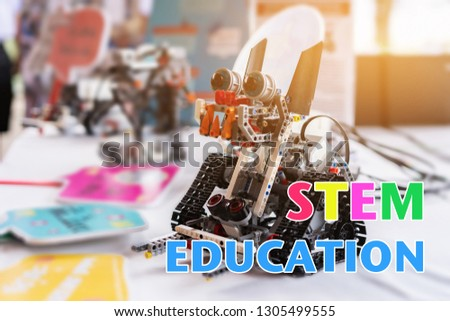 Stem educations,inventor school Creating robotics project,microcontroller Circuit board Analysis assembly,DIY robot in science education class #1305499555