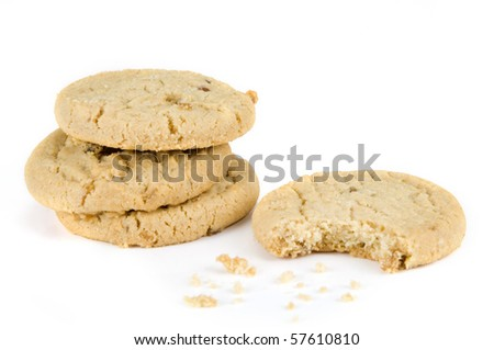 Stem ginger cookies on a white background