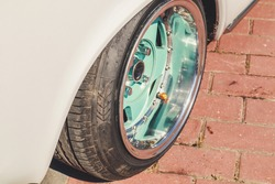 Stence culture car. Sports cars. Tuning. Rubber on stylish wheels. Underestimated cars