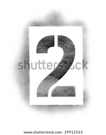 stencil numbers in spray paint stock photo 29912563 shutterstock. Black Bedroom Furniture Sets. Home Design Ideas