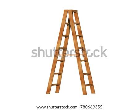 step ladder 3D rendering #780669355