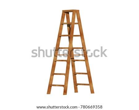 step ladder 3D rendering #780669358