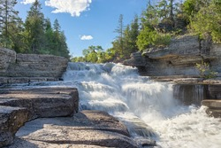 stepped rapids on the Bonnechere River near Eganville Ontario Canada