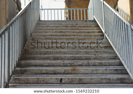Stepped up the stairs. Beautiful background of stairs