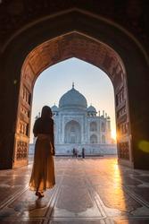 Stepping into a world wonder, Taj Mahal in India
