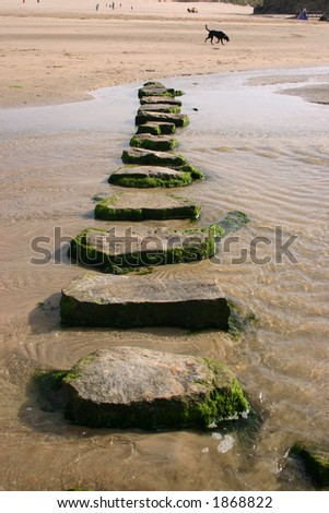 Stepping stones, Perranporth, Cornwall
