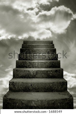 Steps and clouds