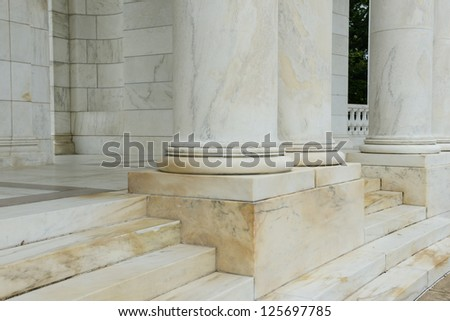 Steps and Pillars made of marble