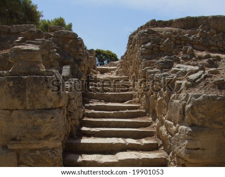 Steps at Festos - stock photo