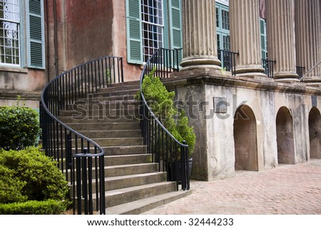 Steps in the College of Charleston
