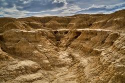 Steps of dirt eroded in Tudela, Navarra