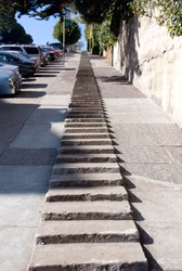 Steps on a hill in San Francisco California