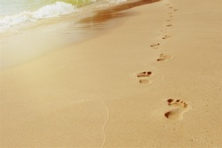 Steps on the sand