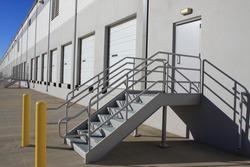 Steps on warehouse loading dock
