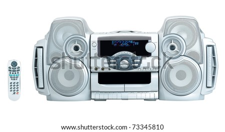 Stereo audio DVD and CD player for your home entertainment the image isolated on white