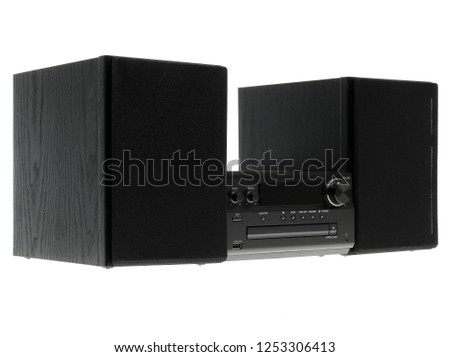 stereo system on a white background #1253306413