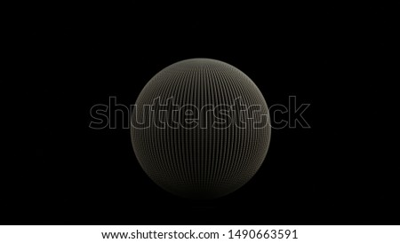 Sterling Silver Geo Sphere Made Out of Lots of Tiny Spheres Front View 3d illustration