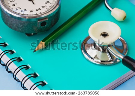 stethoscope and other medical facilities