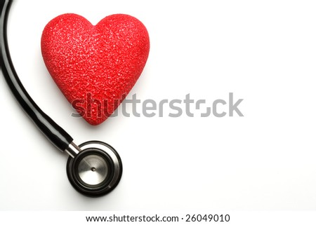 Stethoscope and red heart, health