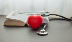 Stethoscope doctor with books, prepare Exam concept, Virus