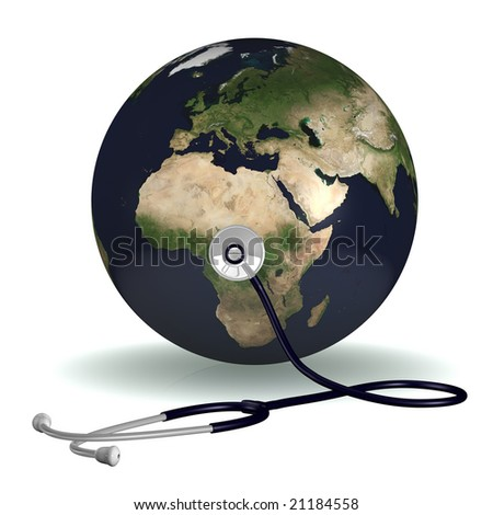 Stethoscope listening the Earth