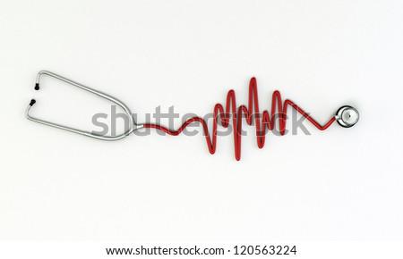 stethoscope medical tool isolated on white background