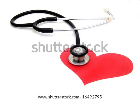 stethoscope on paper heart