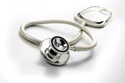 stethoscope on white background