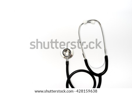 stethoscope on white background  #428159638