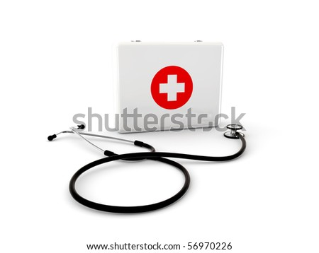 stethoscope with first aid kit - white version