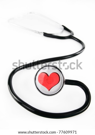 Stethoscope with heart shape design