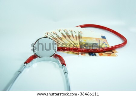 Stethoscope with Money - stock photo