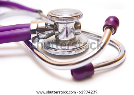 stetoscope isolated against white packground