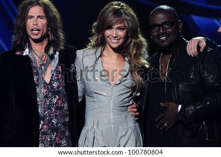 "Steven Tyler, Jennifer Lopez, Randy Jackson  at the ""American Idol"" Season 10 Judges Announcement, Forum, Inglewood, CA. 09-22-10"