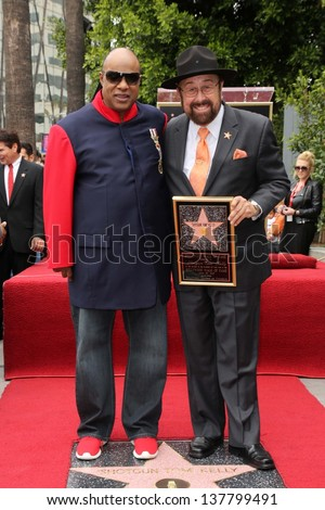 Stevie Wonder, Tom Kelly at the Tom Kelly Star on the Hollywood Walk of Fame, Hollywood, CA 04-30-13