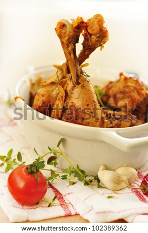stewed chicken pieces