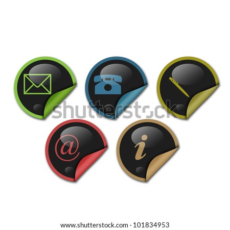 sticker contact signs
