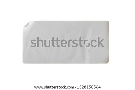 Sticker label isolated on white background with clipping path #1328150564