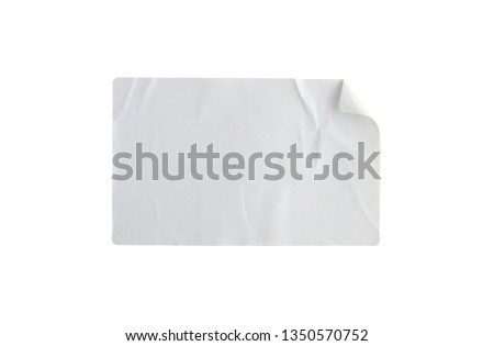 Sticker label isolated on white background with clipping path #1350570752