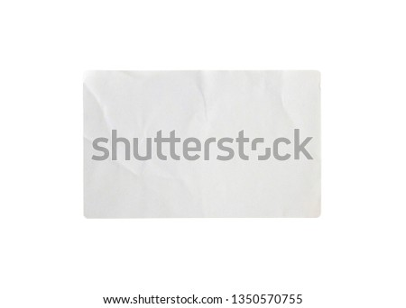 Sticker label isolated on white background with clipping path #1350570755