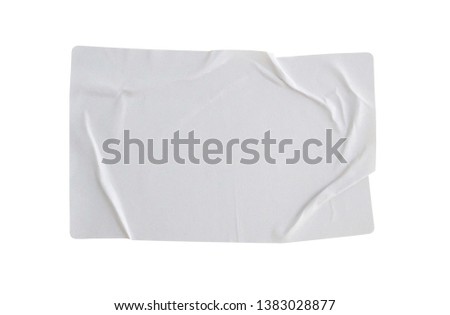 Sticker label isolated on white background with clipping path #1383028877