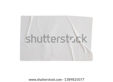 Sticker label isolated on white background with clipping path #1389825077
