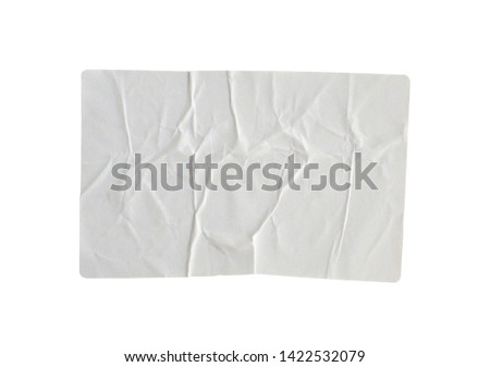 Sticker label isolated on white background with clipping path #1422532079