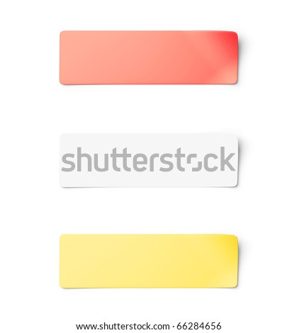 Sticker notes isolated