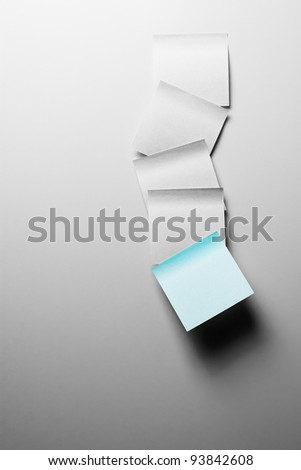 Sticker notes on the grey background