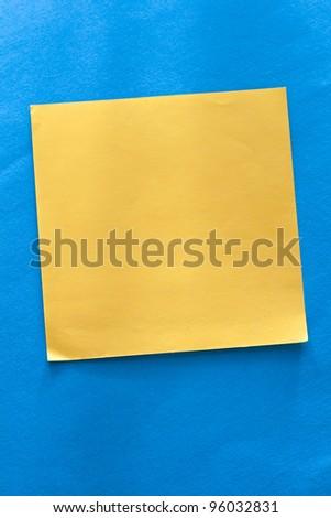 Sticker on the blue background